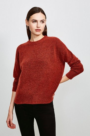 Rust Super Soft And Cosy Blend Crew Neck Jumper