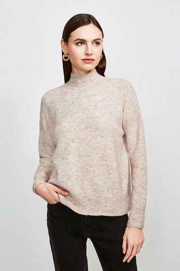 Oatmeal Super Soft And Cosy Roll Neck Jumper