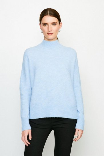 Pale blue Super Soft And Cosy Roll Neck Jumper