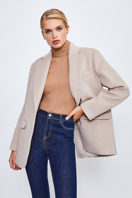 Mocha Formal Blazer Coat