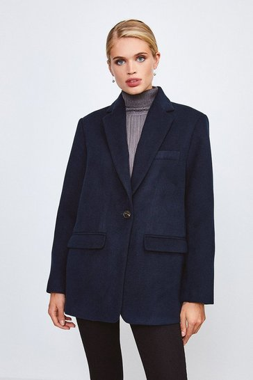 Navy Formal Blazer Coat