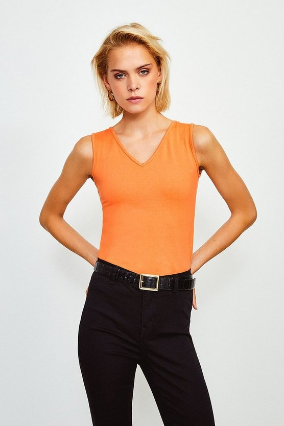Poppy V Neck Jersey Vest Top