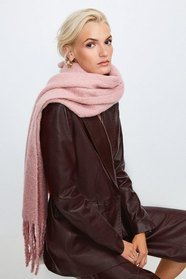 Blush Oversized Knitted Scarf