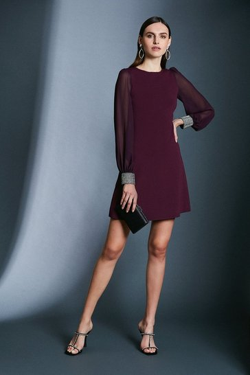 Fig Diamante Cuff Knit Dress