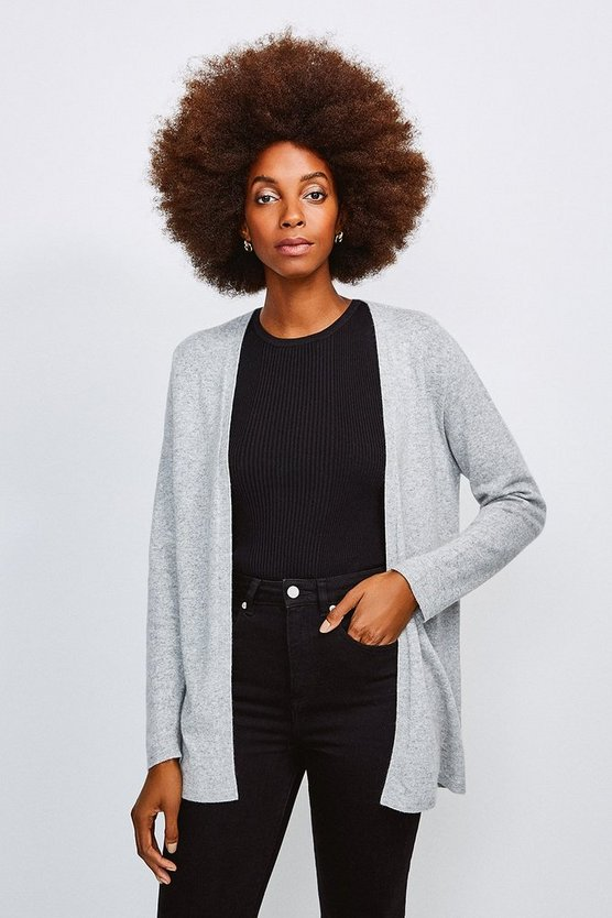 Light grey Cashmere Blend Cardigan