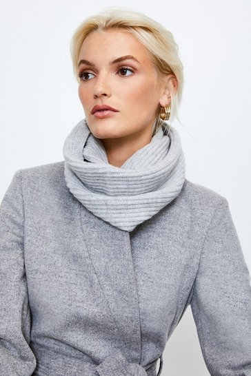 Light grey Cashmere Knitted Snood
