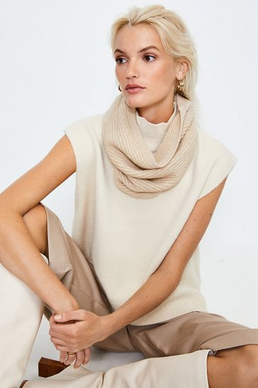 Oatmeal Cashmere Knitted Snood