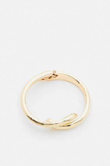 Gold Plated Twisted Cuff Bracelet