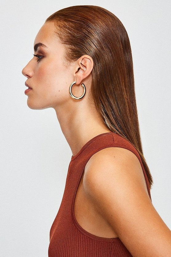 Silver / Gold Chunky Hoops