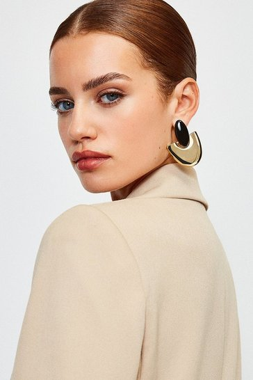 Gold Plated Arch Earrings