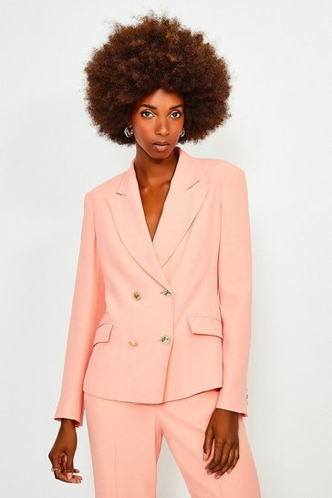 Apricot Soft Double Breasted Jacket