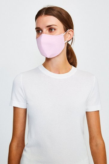 Pale pink Reuseable Fashion Face Mask With Filter