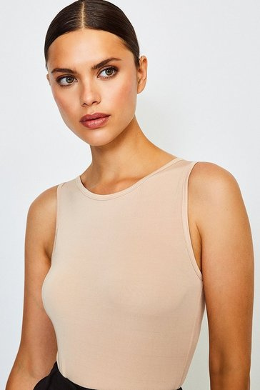 Nude Smoothing Essentials Power Mesh High Neck Body