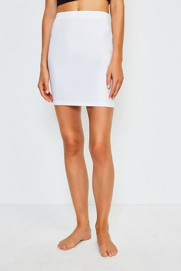 White Smoothing Essentials Short Slip Skirt
