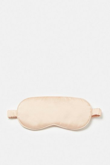 Peach Silk Satin Eye Mask