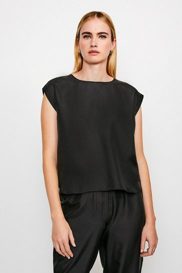Black Silk Oversized Tee