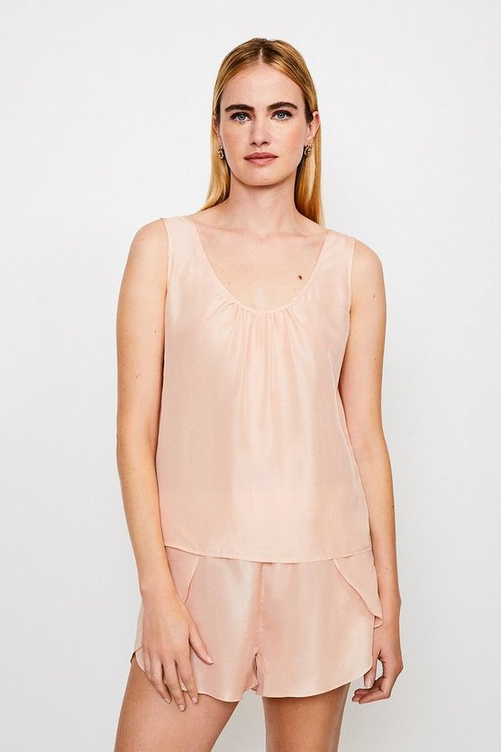 Peach Silk Lounge Top