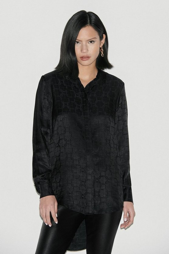 Black Label Silk Jacquard Shirt