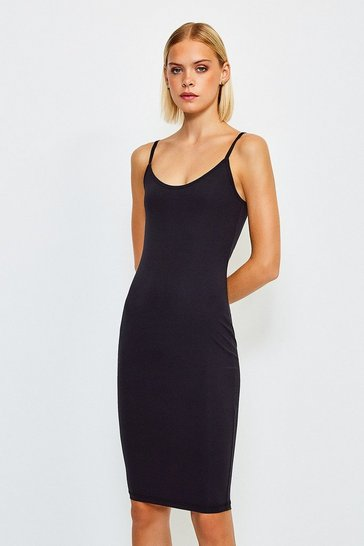 Black Smoothing Essentials Strappy Slip Dress