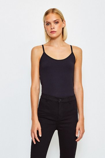 Black Smoothing Essentials Strappy Cami Top