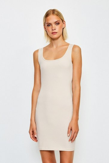 Nude Smooth Essential Scoop Neck Slip Dress
