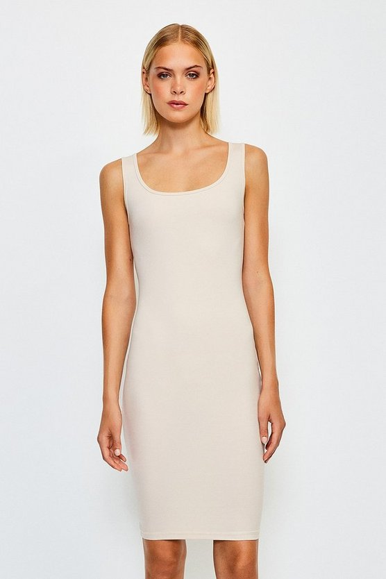 Nude Smooth Essential Scoop Neck Slip Midi Dress