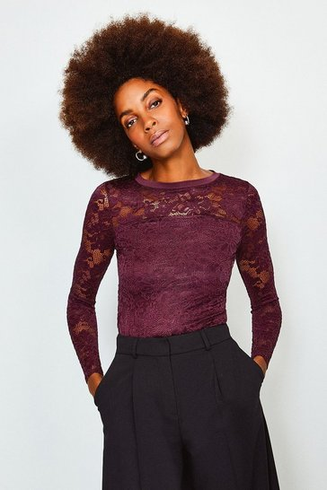 Fig Lace Long Sleeve Jersey Top