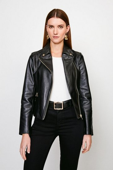 Black Classic Leather Biker Jacket