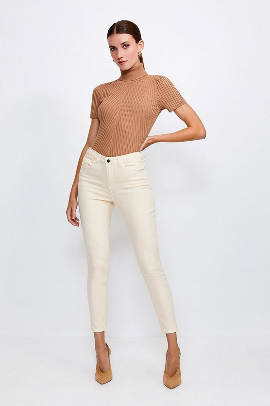 Classic Cut Cream Slim Leg Jean