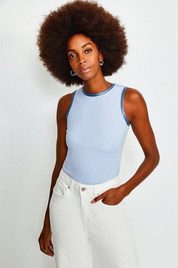 Blue Racer Sleeveless Ponte Top