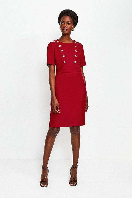Red Military Day Dress