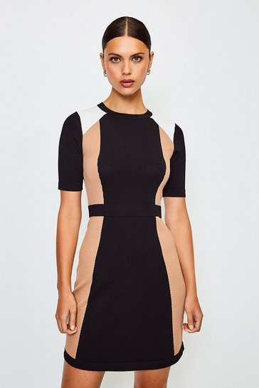 Fig Colour Block Knitted Dress