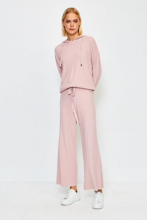 Blush Knit Soft Yarn Wide Leg Jogger