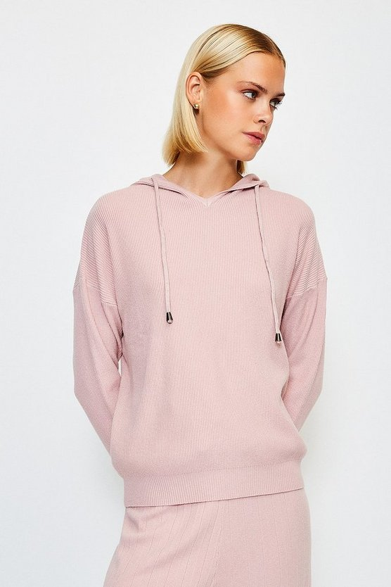Blush Knit Soft Yarn Hoody