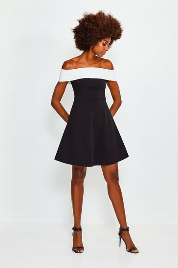 Bardot Bandage Mono Skater Dress