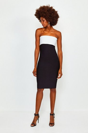 Bandeau Bandage Mono Dress