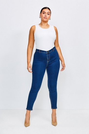 Mid wash Curve Power Stretch Jegging