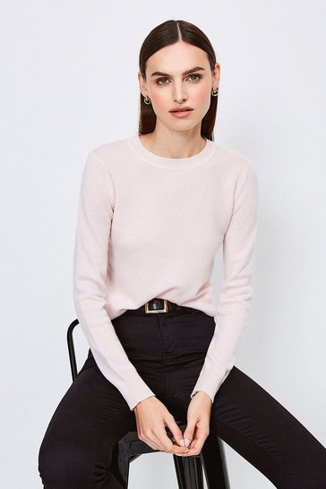Blush Crew Neck Cashmere Jumper