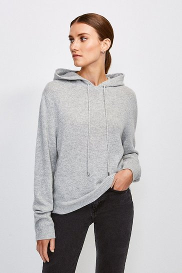 Light grey Cashmere Hoodie