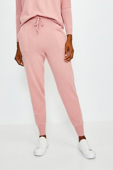 Dusty pink Cashmere Cuffed Jogger