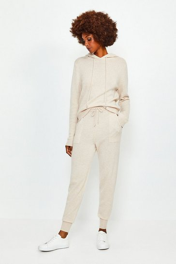 Light grey Cashmere Cuffed Jogger