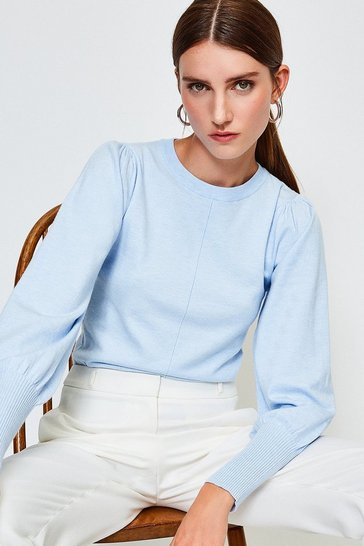 Light blue Puff Sleeve Jumper