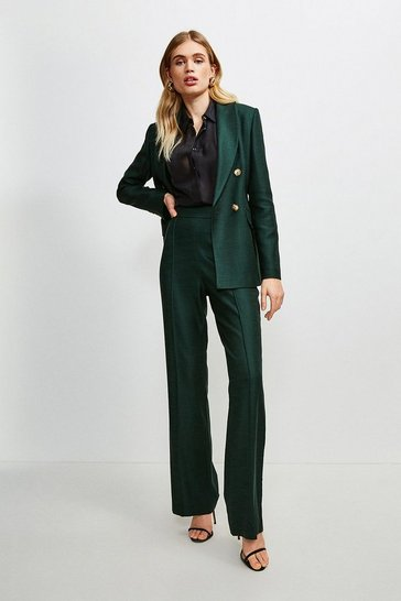 Evergreen Luxe Stretch Twill Pintuck Trousers
