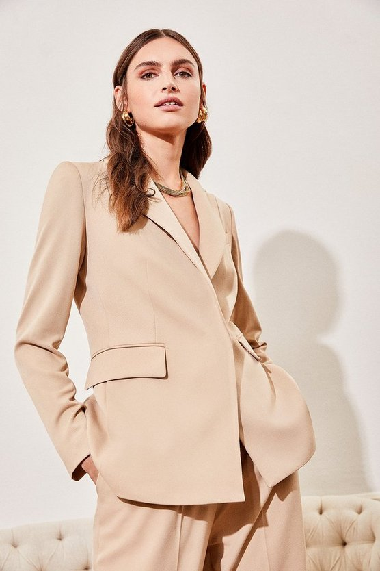Beige Clean Tailored Jacket
