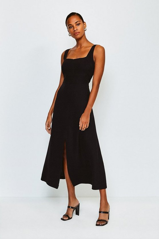 Multi Panelled Fluid Midi Dress