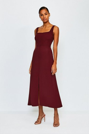 Brick Panelled Fluid Midi Dress