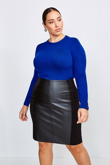 Cobalt Curve Gold Popper Crew Neck Jumper