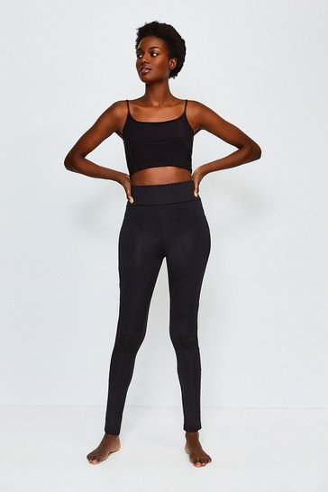 Black Microfibre Legging