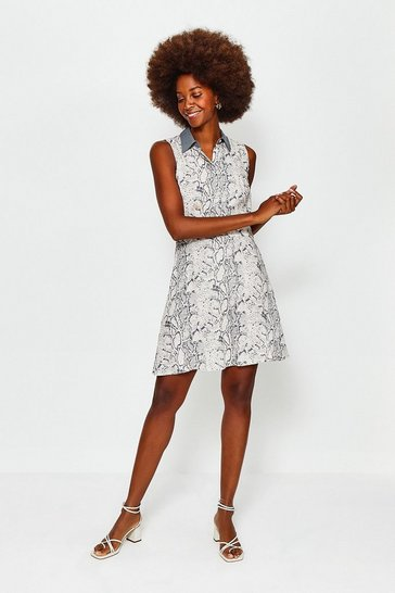 Multi Classic Sleeveless Print Dress