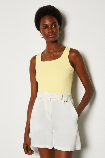 Lemon Viscose Jersey Vest